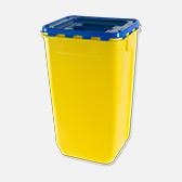 Blue lidded bin