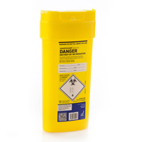 Yellow sharps container - 0.6 litre