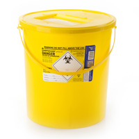 Yellow sharps container – 22 litre