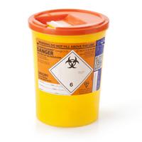 3.75 orange sharps bin
