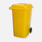 Yellow Wheelie Bin