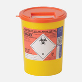3.75ltr orange sharps bin