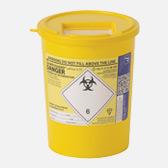 3.75 ltr yellow sharps bin