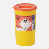 5 ltr orange sharps bin