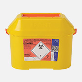 8.5 Ltr orange sharps bin