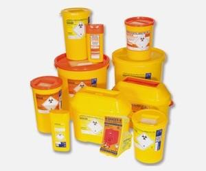 Orange Sharps Containers