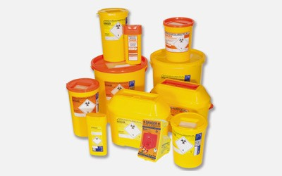 Orange Sharps Containers